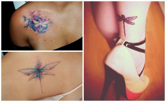 Tatuajes de libélulas para mujeres