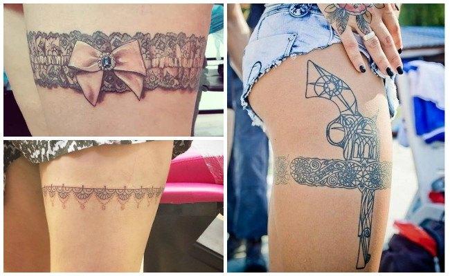 Tatuajes de ligueros con pistola
