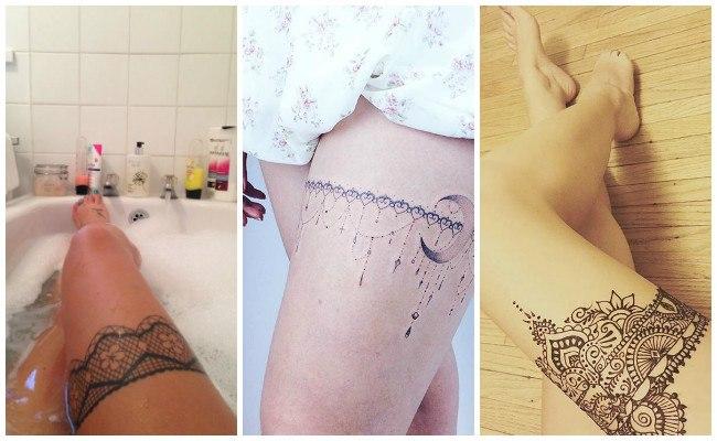 Tatuajes de ligueros con henna