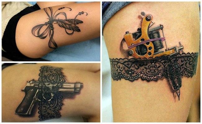 Tatuajes de ligueros lencero