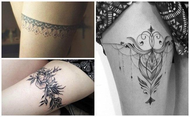 a1ca1c3f49 Tatuajes De Ligas Para Mujeres En La Pierna - Tatuajes
