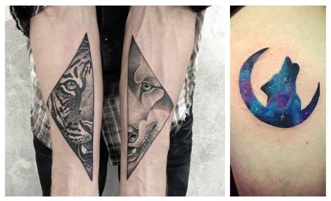Diseños de tatuajes de lobos en colores