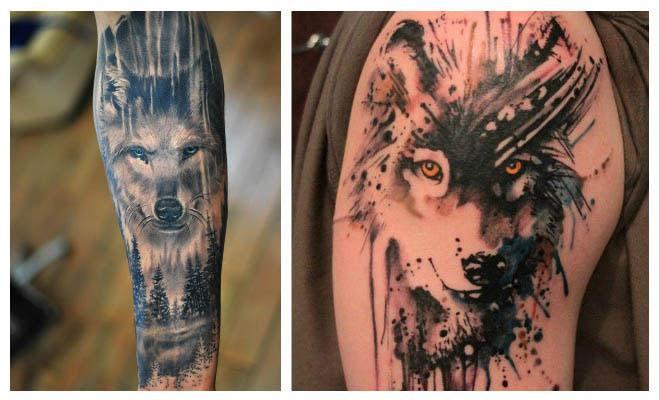 Tatuajes de lobos en la pierna