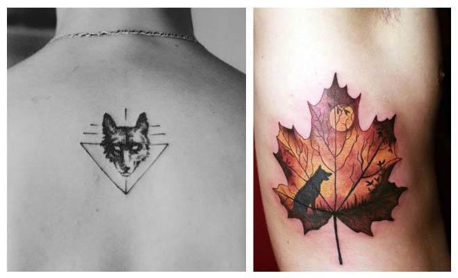 Tatuajes de lobos minimalistas