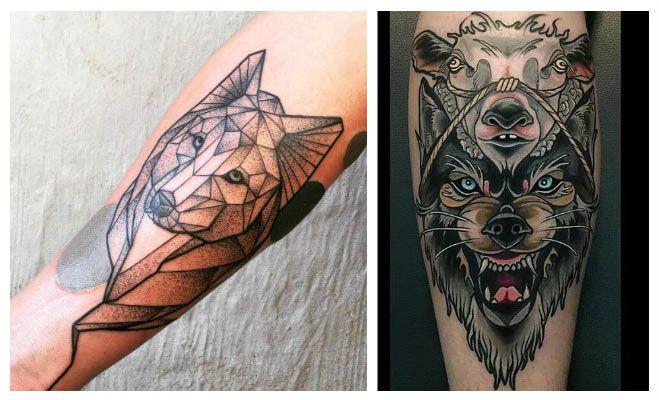 Tatuajes de lobos para el brazo
