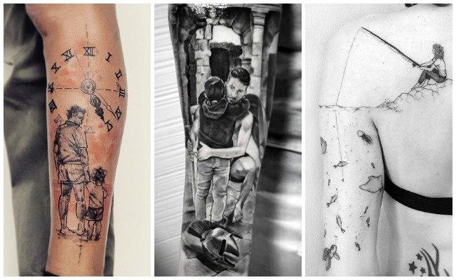 Tatuajes de la mamá con hijos