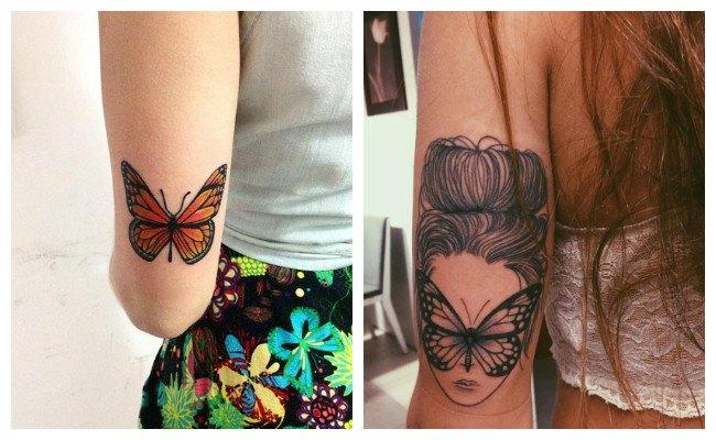 Tatuajes de mariposas con ojos