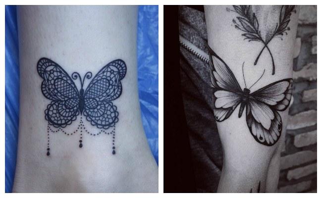 Tatuajes de mariposas en el hombro