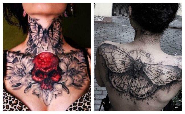Tatuajes de mariposas grandes