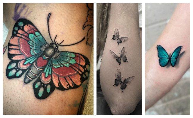 Tatuajes de mariposas realistas