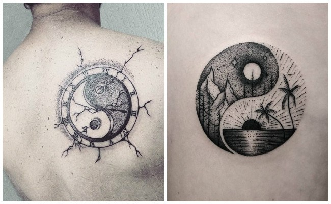 Tatuajes de medio yin yang
