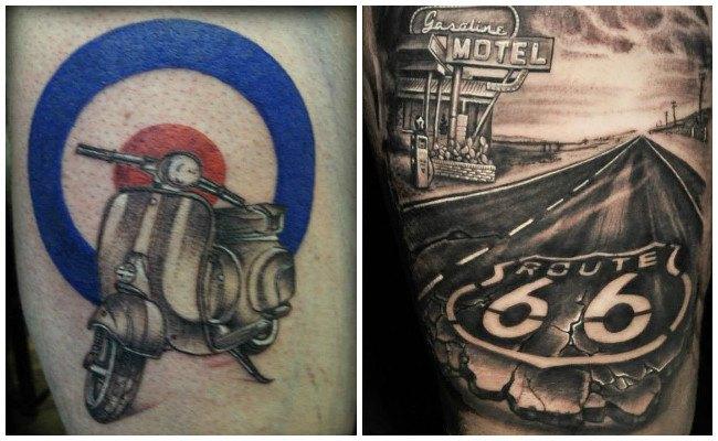 Tatuajes de motos en el brazo