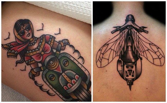 Tatuajes de motos para mujer