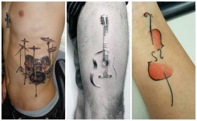Tatuajes de música en el brazo