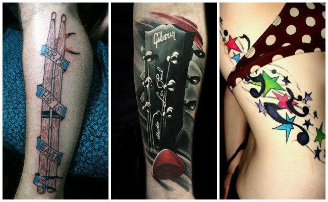 Tatuajes de música en la muñeca