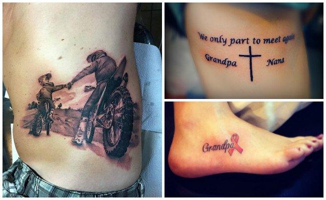 Tatuajes de nombres de hijos en el pie