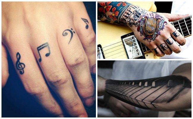 Tatuajes de notas musicales en el brazo
