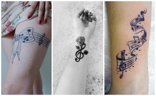 Tatuajes de notas musicales pequeños