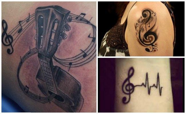 Tatuajes de notas musicales y significado