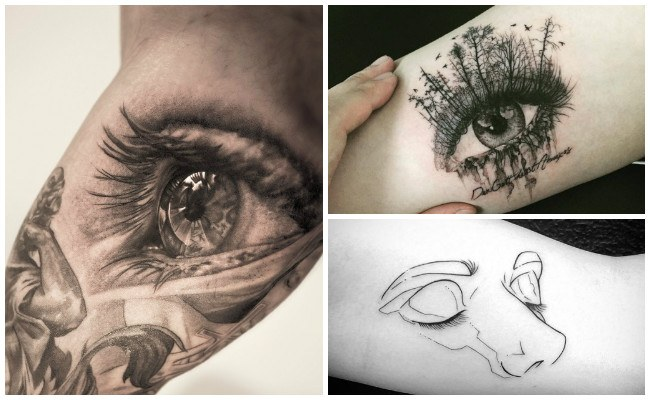 Tatuajes de ojos en el brazo