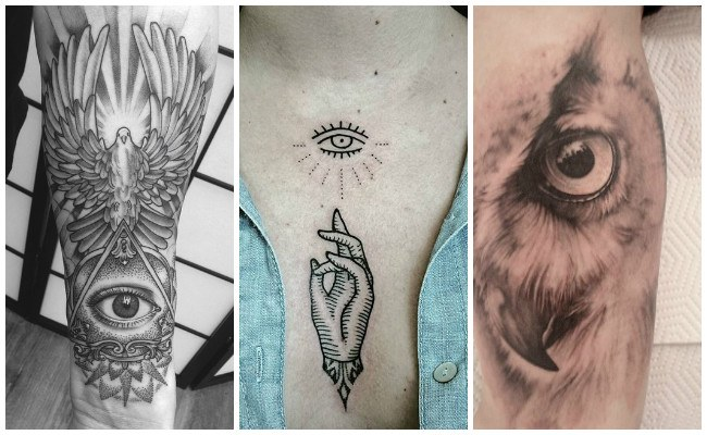 Tatuajes de ojos en el pecho
