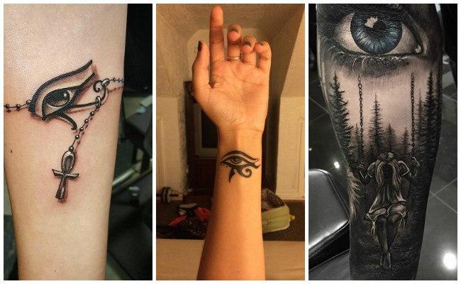 Tatuajes de ojos en la espalda