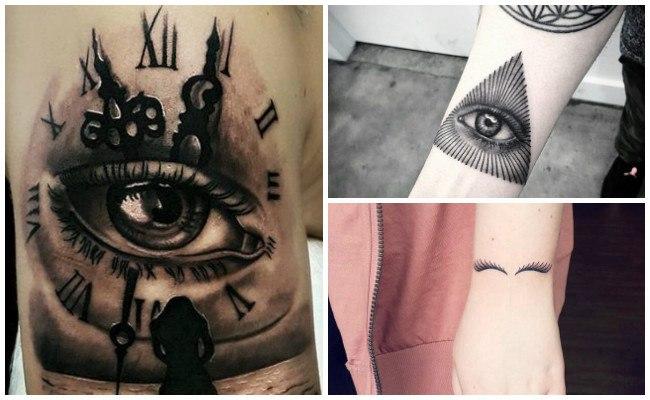 Tatuajes de ojos en triángulos