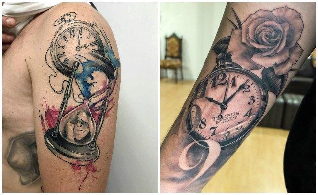 Tatuajes de ojos con relojes