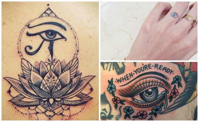 Tatuajes de ojos y cejas
