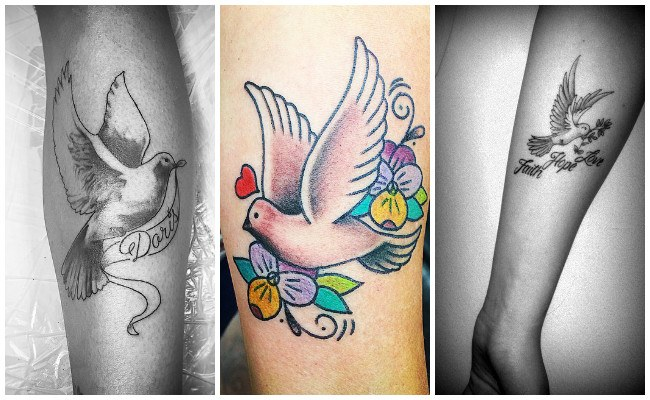 Tatuajes de paloma del espíritu santo