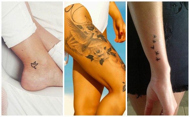 Tatuajes de palomas blancas