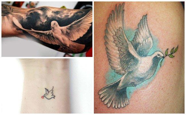 Tatuajes de palomas con frases