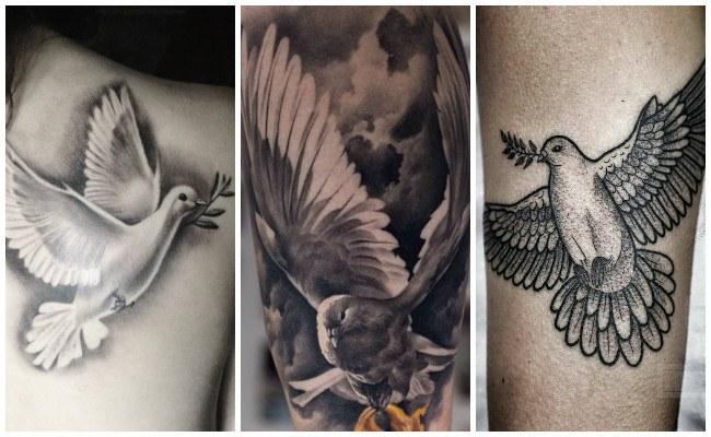 Tatuajes de palomas con nombres