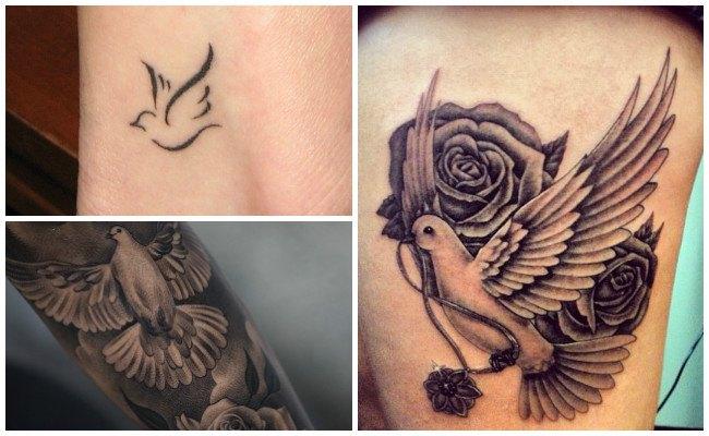 Tatuajes de palomas de la paz