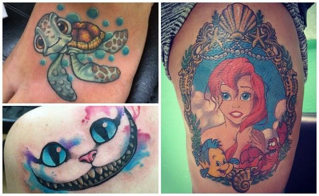 Tatuajes para parejas de disney