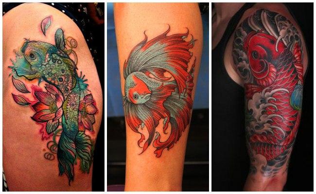 Tatuajes de peces betta