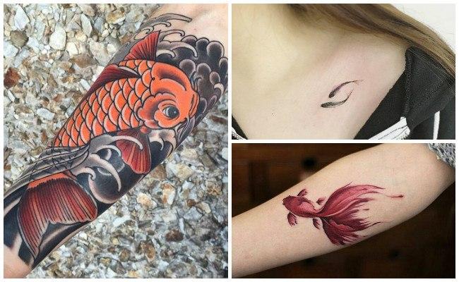 Tatuajes de peces para hombres y mujeres significados y for Imagenes de peces chinos