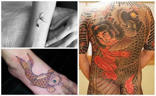 Tatuajes de peces koi para mujeres