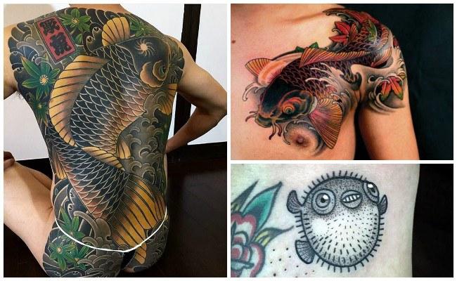 Tatuajes de peces para hombres