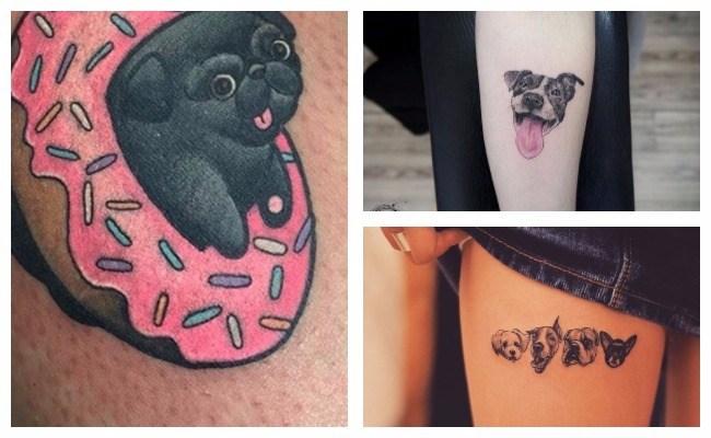 Tatuajes de perros bull terrier