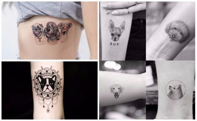 Tatuajes de perros dogos