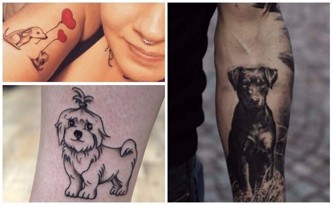 Tatuajes de perros galgos
