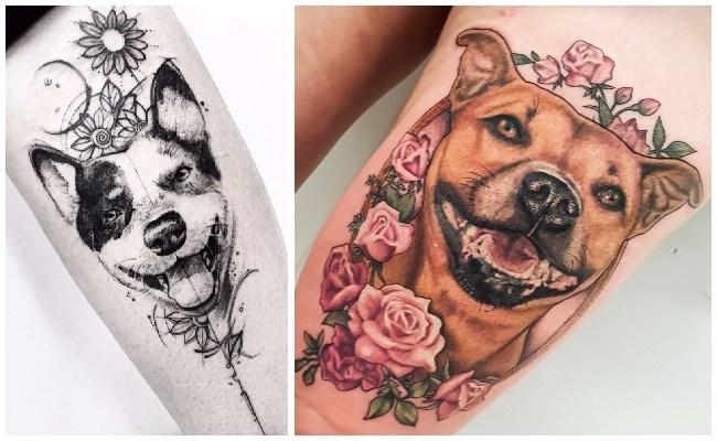 Tatuajes de perros yorkshire