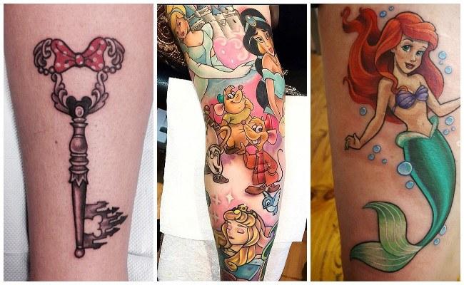 Tatuajes de princesas de disney