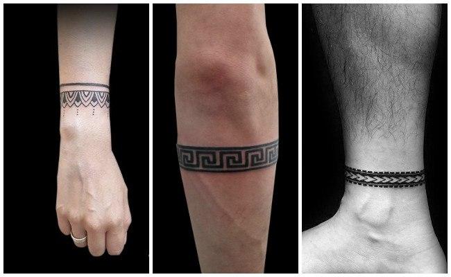 Tatuajes de pulseras en el brazo