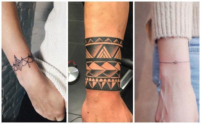 Tatuajes de pulseras con flores