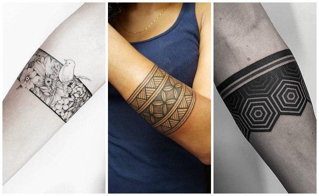 Tatuajes de pulseras en mujer