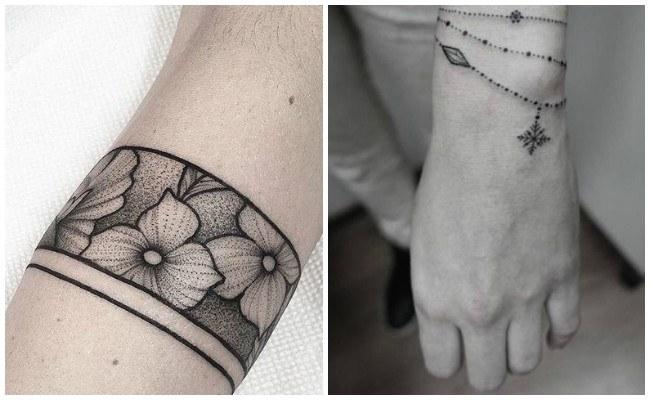 Tatuajes de pulseras con nombres