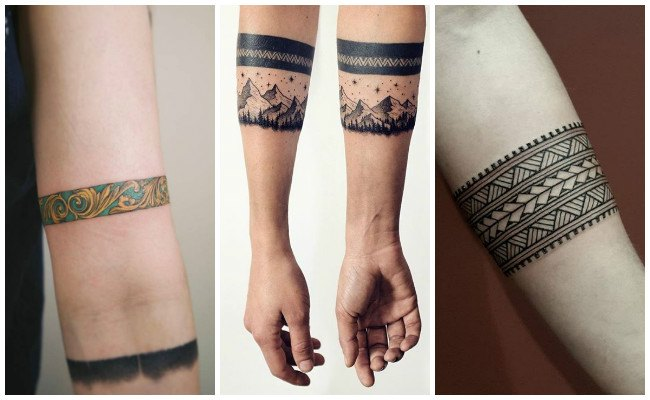 Tatuajes de pulseras para hombres