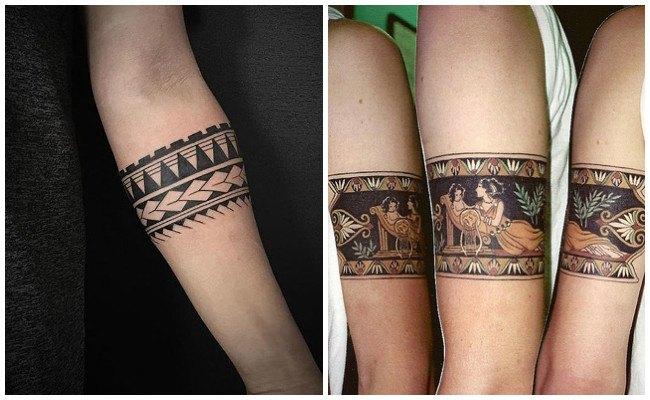 Tatuajes de pulseras en el pie